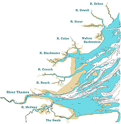 chart of the Thames Estuary
